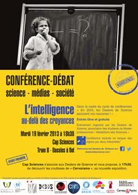 Conférence-débat L'intelligence au-deà des croyances