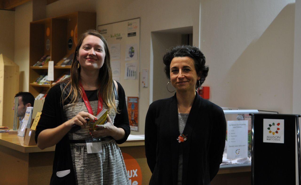 Maïa Mannequin et Valérie Génebès (responsable du master HPMS)