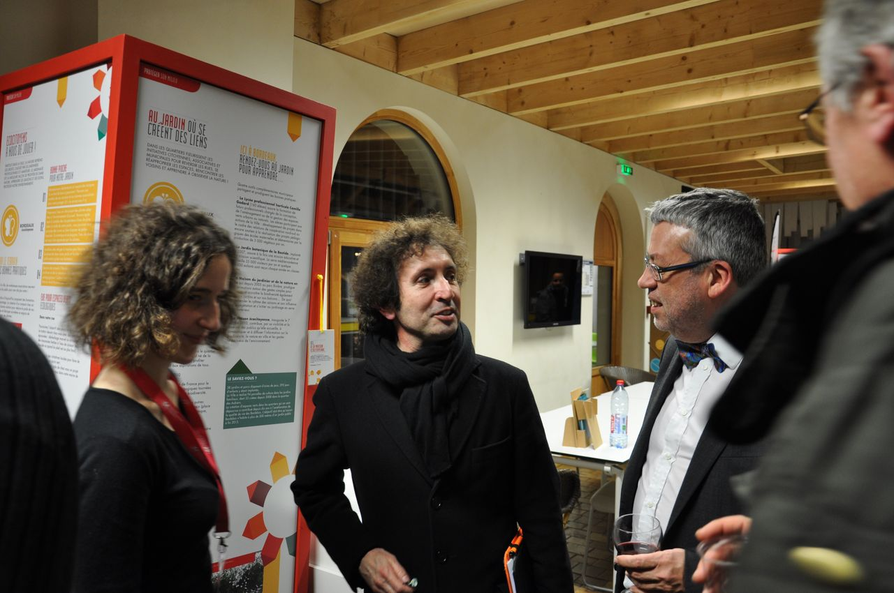 Didier Beaujardin et Olivier Laügt (responsable du master HPMS)
